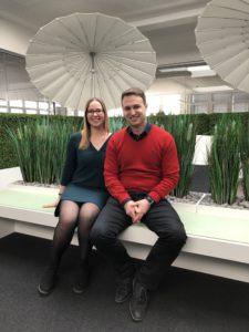 Die neuen Vorstandsassistenten der SYNAXON AG: Anika und Christian